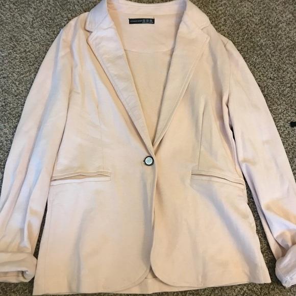 New Look Jackets & Blazers - Pink cotton blazer